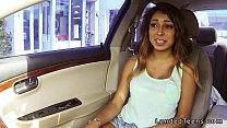 Busty Mexican teen blowjob in the car pov - 9Club.Top