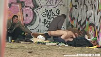 Pure Street Life Homeless Threesome Having Sex on Public Image