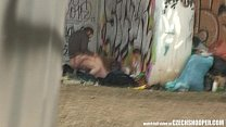 Pure Street Life Homeless Threesome Having Sex on Public Vorschaubild