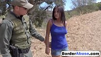 Brunette hottie fucking outdoor police big tits's Thumb