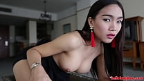 HelloLadyBoy Cock Craving Big Tit Thai Babe Pounded