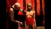 Hot Blonde Submissive Babe Whipped by Her Master Thumbnail