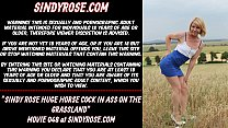 Sindy Rose huge horse cock in ass on the grassland
