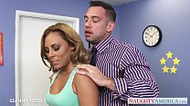 Sexy office babe Gianna Nicole fucking video