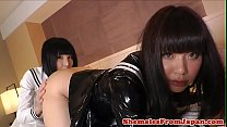 Asian trans schoolgirls enjoy a twosome