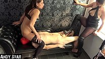 Cuckold slave is used by young couple