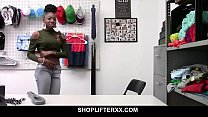 Small tit ebony fucked by mall cop Preview