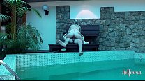 Boss invites maid to the pool but couldn't resist the hot