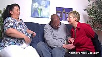 Free download video bokep Thick thighed BBW joins in with mature couple