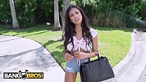 BANGBROS - Barely Legal Hottie Autumn Falls Pounded On The Bang Bus By Tyler Steel thumbnail
