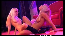 2 hot strippers having sex on the stage