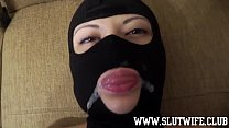 Masked Amateur Teen Slut Training Session: Submissive 18yo. Learns Jerking Off A Dick, Licking Balls, Getting Face Fucked
