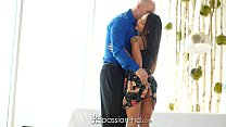 PASSION-HD Tiny Holly Hendrix fucks her bf after hard day at work
