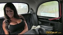 Massive boobs Ava fucked with a pervert driver inside a cab