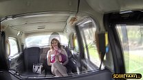 Nice big tits super hot lady gets fucked and sucked in the taxi thumbnail