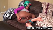 7835 Msnovember HD My Asshole Feels Horny And I Have To Push A Butt Plug Deep Into My Black Ass To Feel Better After Pulling These Panties Down In Cosplay Sheisnovember preview