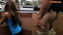 Babe selling her vinyl and gets pounded at the pawnshop