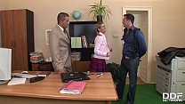 Kannada sex, Xxx office threesome with petite blonde cloe gives her chills of pleasure thumbnail