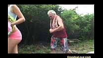 Grandpa gets lucky with babe thumb
