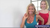 Alexis Fawx and Chloe Couture nasty 3way on mas... thumb