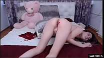 Busty Asian teen stip and masturbation