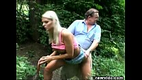 Perv Dad Bangs Hot Blonde Teen At The Park