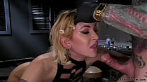 Alt scientist anal bangs bound TS