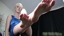 Shoot your hot cum all over our feet