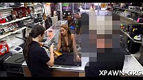 Glamorous whore sex in shop