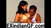 Amateur Indian couple playing on cam