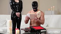Free download video bokep Latex maniacs see Russian femdom babes Nesty & ...