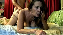 Cute old spunker enjoys a hard fucking and a facial cumshot