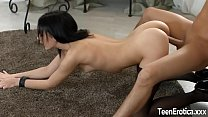 Beautiful Brunette Teen Sheri Vi Pleases a Cock with Her Mouth and Cunt