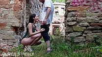 Public creampie cute teen in the ruin of a castle. Oliver Strelly thumbnail