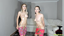 19404 Masturbating Oiled Camgirl Sisters preview