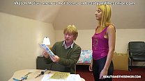 Geeky grandpa gets horny teen wet for him thumbnail