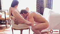A man tenderly fucked young brunette and finished it in her mouth - 9Club.Top