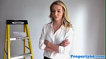 Realtor exgf  seduced in openhouse and fucked