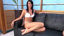 Fakeshooting Fake casting welcome nice innocent brunette with shaved pussy