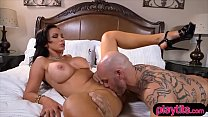 Screenshot Nasty MILF w ith huge tits gets fucked hard from...