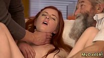 Teen fucks vacuum and loves dick Unexpected experience with an older