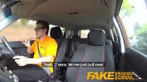 Fake Driving School Big tits blonde gets fucked and cum splattered glasses - 9Club.Top