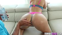 Horny babe Brittany Shae giving it all for pleasure