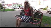 Sandra is alone on a bench and I ask him to fuck his ass