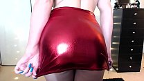 Shiny Red Skirt Addict Femdom JOI Tease Part 1 - Part 2 at hotporntubexxx.com's Thumb
