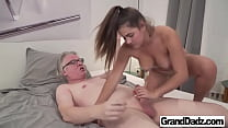 Old perv likes chubby pink pussy