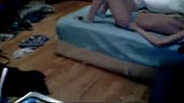 My cute kinky sister masturbates on bed. Hidden cam Preview