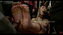 Asian sex slave used as fucking toy