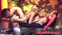 Claudia Rossi - Melissa Black Threesome with a ...