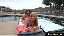 Lovely Lez Girls (Jayme Langford & Vanessa Veracruz) Playing In Hot Sex Scene vid-07 preview image